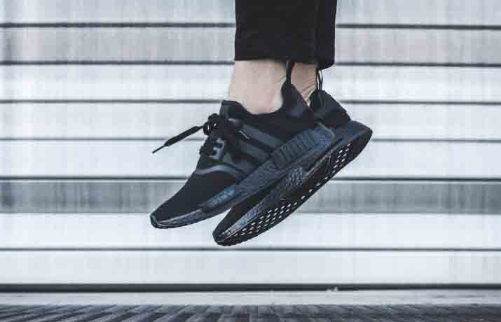 reputable site e3446 e0a3a adidas NMD R1 Color Boost Black