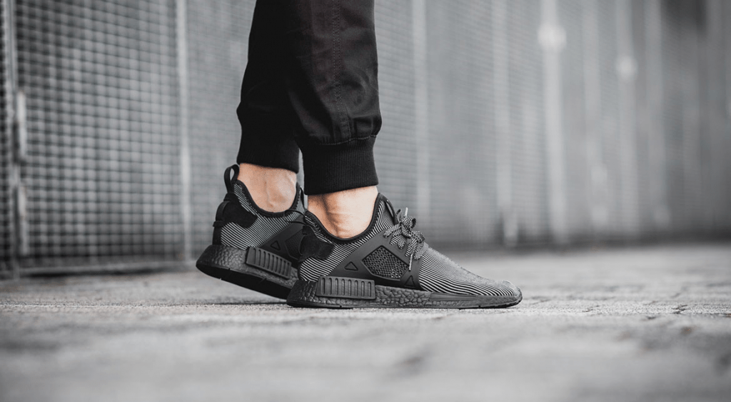 f2ee60807 adidas NMD XR1 Black On foot 01 - FastSole.co.uk