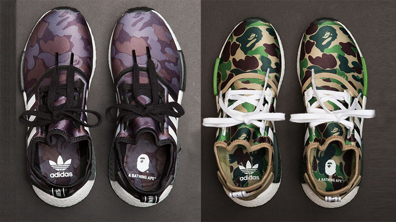 new concept 326b8 36a3d Closer look at the BAPE x adidas NMD R1 Camo Pack - FastSole 2