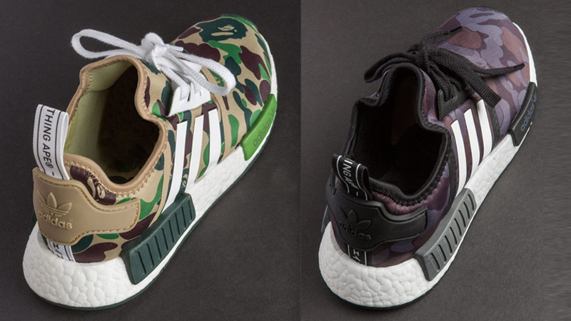 premium selection df8f0 1c955 Closer look at the BAPE x adidas NMD R1 Camo Pack - FastSole 4