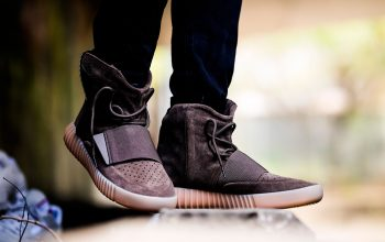 On foot look at the Yeezy Boost 750 Light Brown