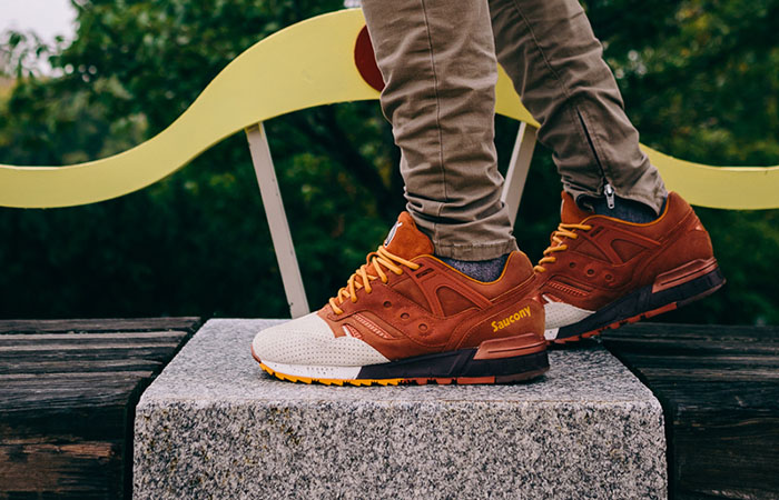 19722b256d41 On foot look at Saucony Grid SD Pumpkin Spice – Fastsole