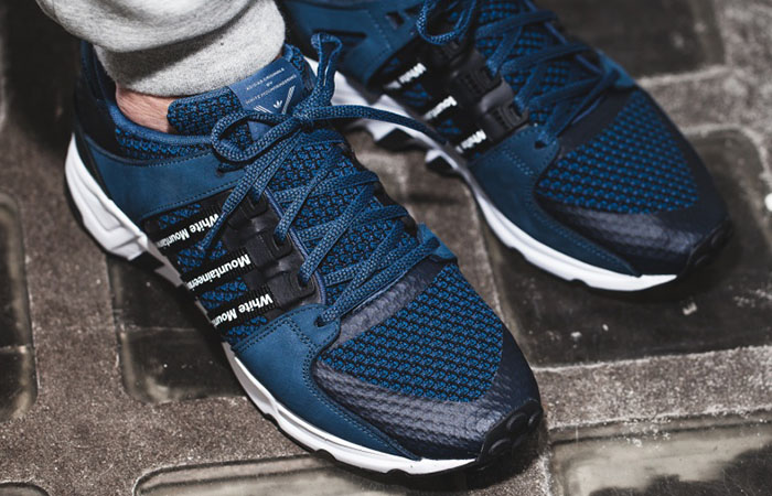 competitive price 37289 ec3b1 White Mountaineering x adidas EQT Blue