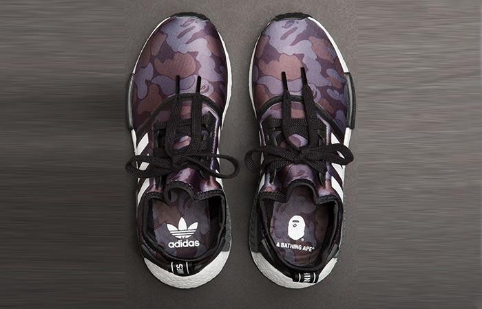 BAPE x adidas NMD R1 Camo Black