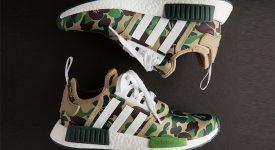 online store 46319 ea1d2 BAPE x adidas NMD R1 Camo Green
