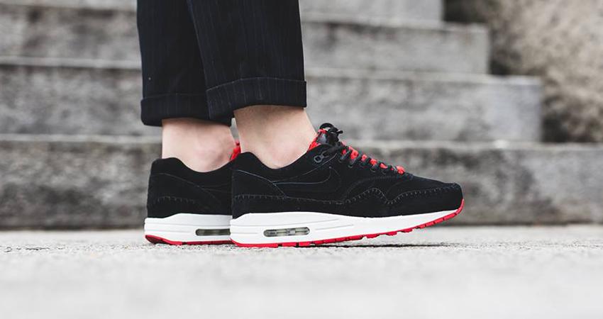 Nike Air Max 1 Sherpa Pack Black Red 2