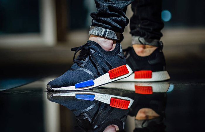 adidas NMD R1 Black Red Primeknit