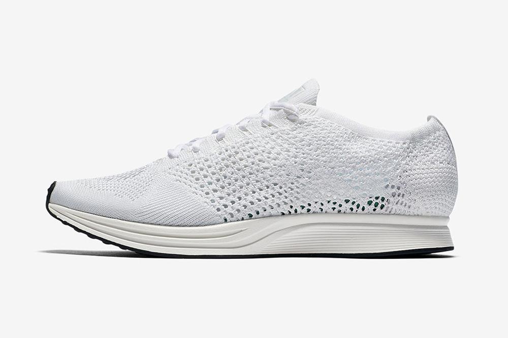 Nike Flyknit Racer 'Triple White'