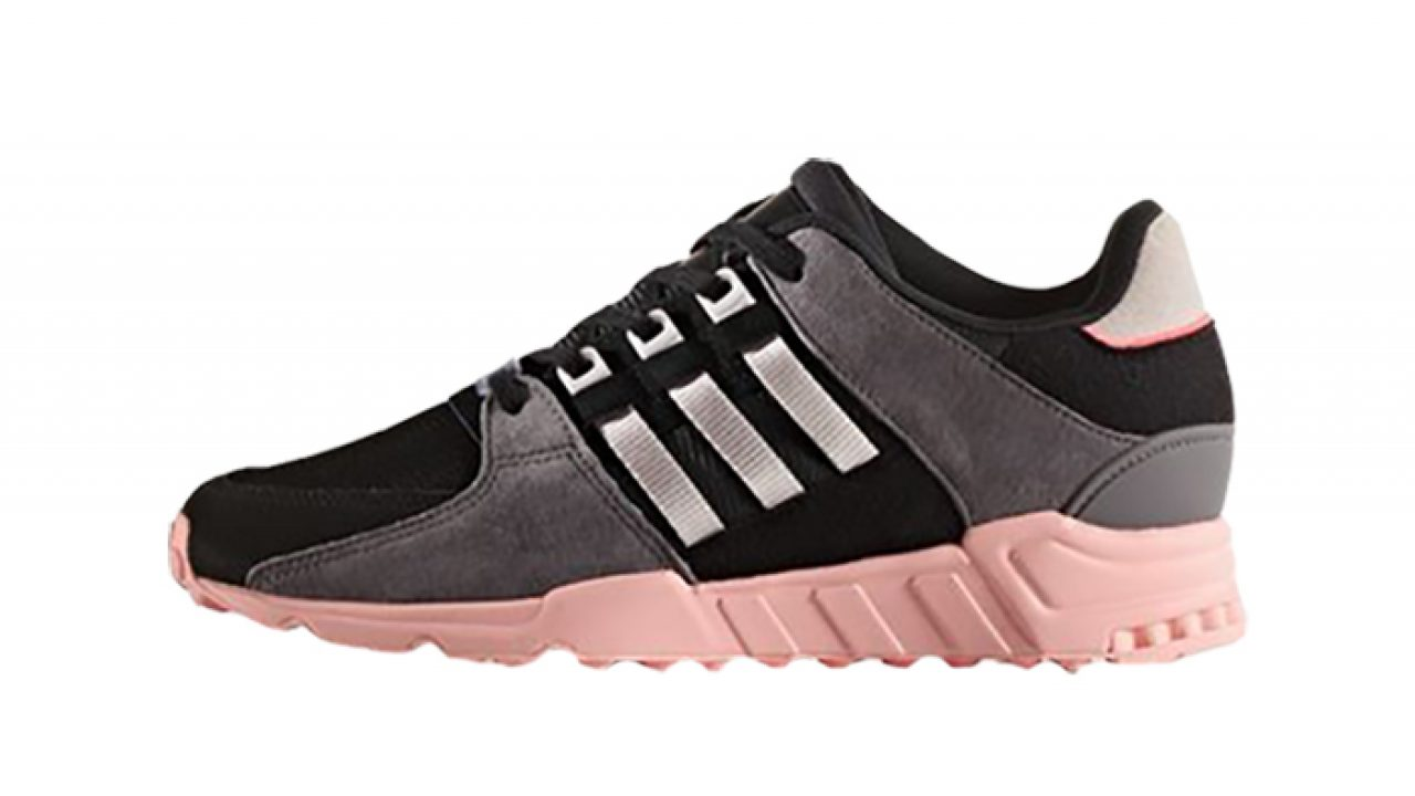 new style b975e cb57e adidas EQT Support RF Black Pink Womens