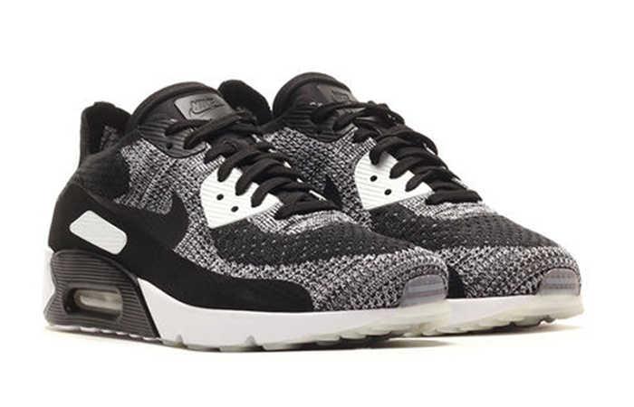 new product d249a 65411 Nike Air Max 90 Ultra 2 Flyknit Black White