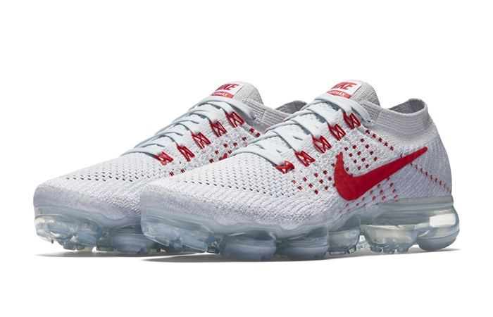 big sale 32306 ac012 ... Nike Air VaporMax Flyknit White Red 849557-060 a ...