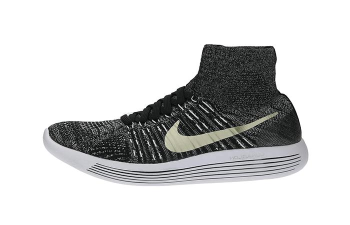 online store db4f4 47f1d Nike LunarEpic Flyknit Black History Month Black White