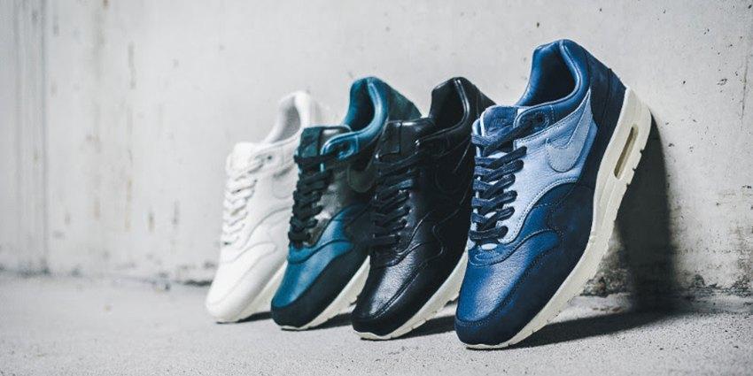 Nike Air Max 1 Pinnacle Leather Black Sail Blue Sneaker