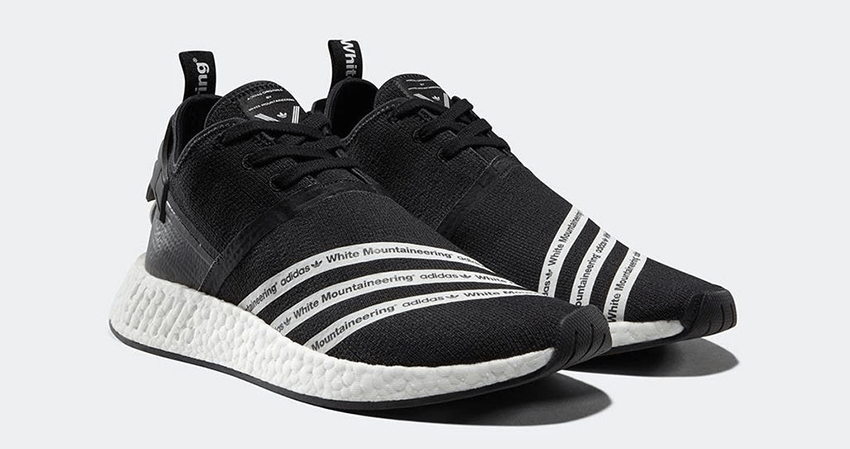9546f64d7cf68 White Mountaineering x adidas NMD R2 Black White Official Look – Fastsole