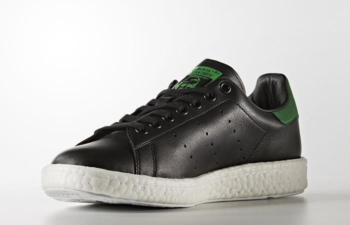 best website 534b9 b467c adidas Stan Smith Boost Black Green