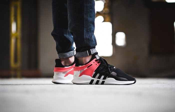 sports shoes e0076 daeb0 adidas EQT Support ADV Black Turbo Red