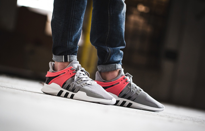 promo code c01fb 387e7 adidas EQT Support ADV Grey Turbo Red