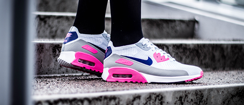 4542ef47c0 Nike Air Max 90 Ultra 2.0 Flyknit Inverted White Pink 881109-101 - Best  Items