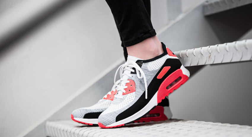 4171e79c75 Nike WMNS Air Max 90 Flyknit Ultra 2.0 Infrared 881109-100 - Best Items from