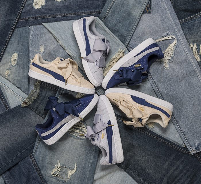 PUMA Basket Heart Denim Women Pack footlocker Release - Sneaker News and Release Updates in UK 05