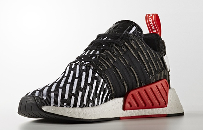 buy popular 92b95 4a44a adidas NMD R2 Black Glitch