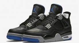 Air Jordan 4 Motorsport Black Silver 308497-006 Buy New Sneakers Trainers FOR Man Women in UK Europe EU 02