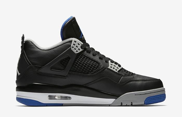 Air Jordan 4 Motorsport Black Silver 308497-006 Buy New Sneakers Trainers FOR Man Women in UK Europe EU 04