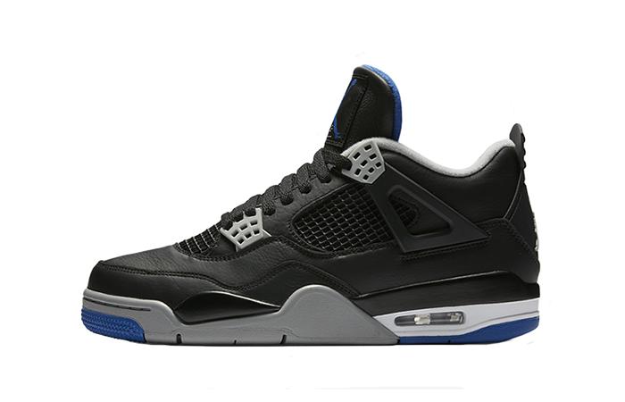 Air Jordan 4 Motorsport Black Silver 308497-006 Buy New Sneakers Trainers FOR Man Women in UK Europe EU 06