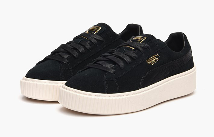 puma suede platform satin black. Black Bedroom Furniture Sets. Home Design Ideas