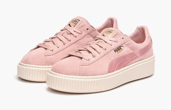 puma suede platform satin pink. Black Bedroom Furniture Sets. Home Design Ideas