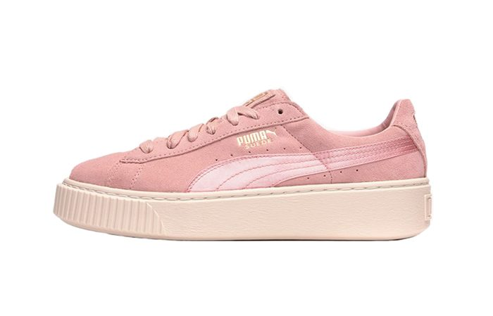 size 40 1a906 e9bd2 PUMA Suede Platform Satin Pink