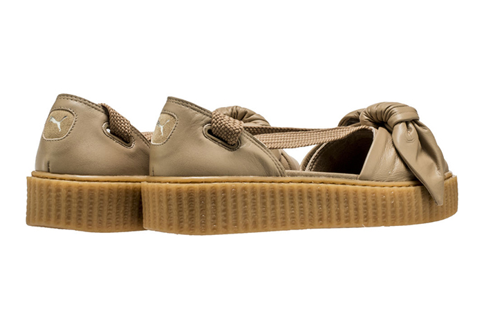 new style 81b47 88d00 Rihanna x PUMA Fenty Bow Creeper Sandal Brown