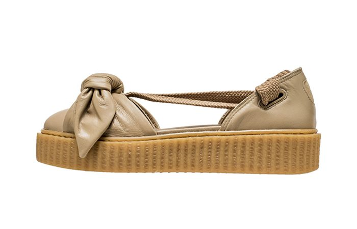 new style 81b47 88d00 Rihanna x PUMA Fenty Bow Creeper Sandal Brown