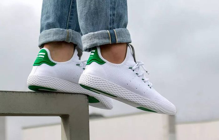 Molester El cielo Celda de poder  adidas Pharrell Williams Tennis Hu White Green – Fastsole