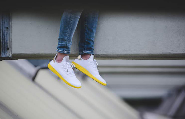 515b33c43 ... adidas Pharrell Williams Tennis Hu White Yellow BY2674 Buy New Sneakers  Trainers FOR Man Women in ...