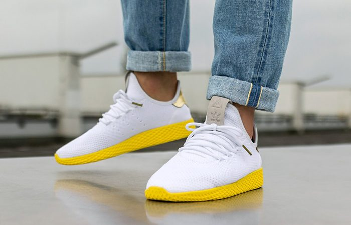 b46dca396 ... adidas Pharrell Williams Tennis Hu White Yellow BY2674 Buy New Sneakers  Trainers FOR Man Women in ...