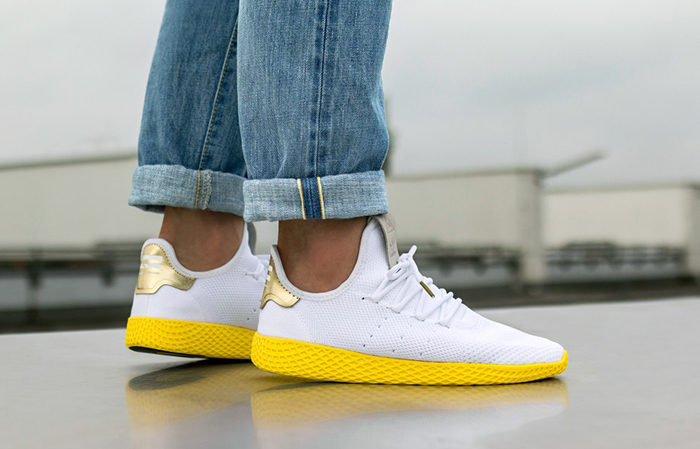 adidas pharrell williams tennis hu white yellow fastsole. Black Bedroom Furniture Sets. Home Design Ideas