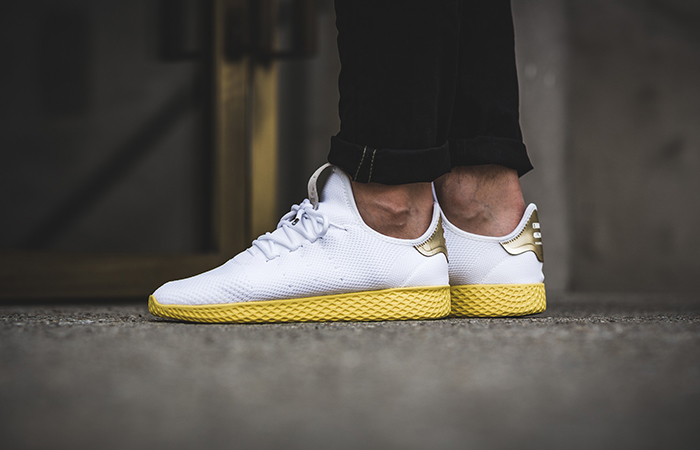 31e7740c23b76 ... adidas Pharrell Williams Tennis Hu White Yellow BY2674 Buy New Sneakers  Trainers FOR Man Women in ...