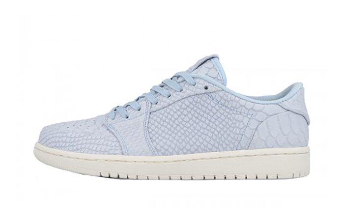 Air Jordan 1 Low No Swoosh Ice Blue 872782-441 h