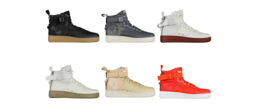New Colourways of Nike SF Air Force 1 Mid 917753-003 917753-800 917753-004 917753-100 917753-200 917753-101 AA1129-100 24