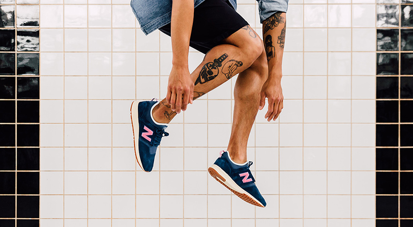 On foot Look at the Titolo x New Balance 247 Deep Into The Blue Buy New Sneakers Trainers FOR Man Women in UK Europe EU Germany DE 03