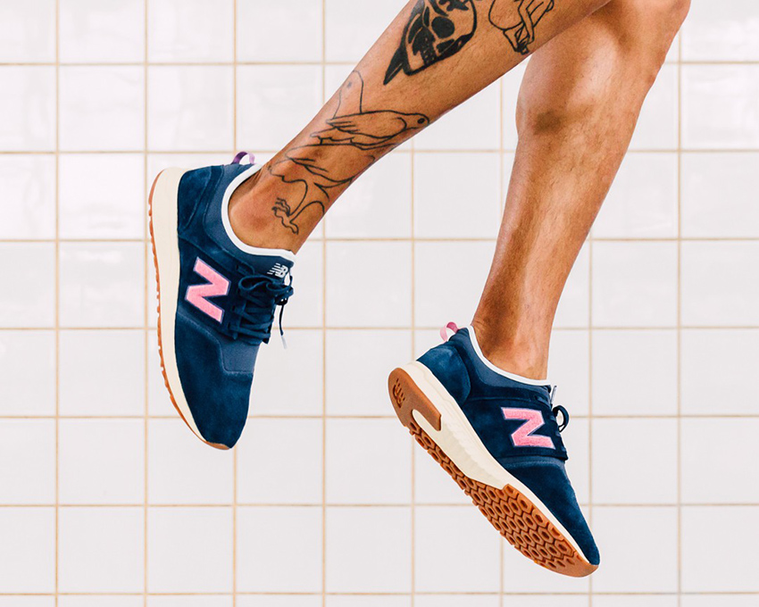On foot Look at the Titolo x New Balance 247 Deep Into The Blue Buy New Sneakers Trainers FOR Man Women in UK Europe EU Germany DE 04