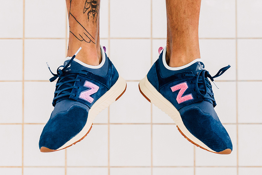 On foot Look at the Titolo x New Balance 247 Deep Into The Blue Buy New Sneakers Trainers FOR Man Women in UK Europe EU Germany DE 05