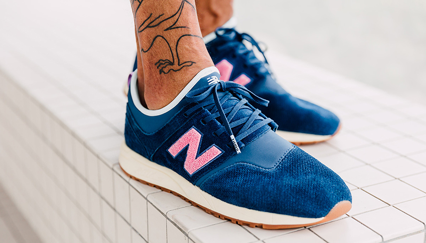 On foot Look at the Titolo x New Balance 247 Deep Into The Blue Buy New Sneakers Trainers FOR Man Women in UK Europe EU Germany DE 07