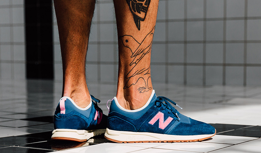 On foot Look at the Titolo x New Balance 247 Deep Into The Blue Buy New Sneakers Trainers FOR Man Women in UK Europe EU Germany DE 11