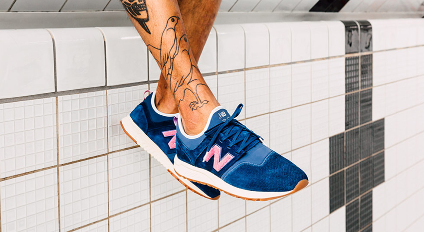 On foot Look at the Titolo x New Balance 247 Deep Into The Blue Buy New Sneakers Trainers FOR Man Women in UK Europe EU Germany DE 13