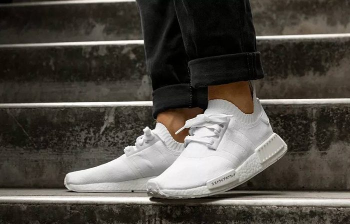 new styles aad0a b24be Adidas NMD R1 Primeknit White Japan Boost