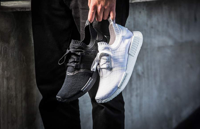 adidas NMD R1 Primeknit Boost Shoes White BA8630 Uk11