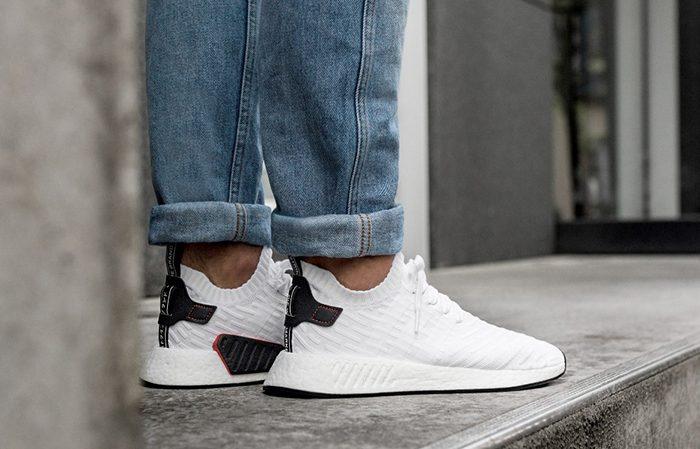 Adidas Nmd R2 White Black Fastsole