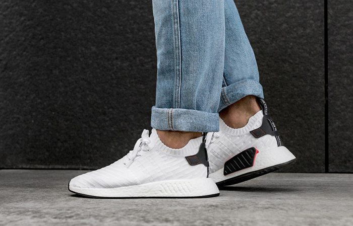 adidas NMD R2 White Black – FastSole.co.uk